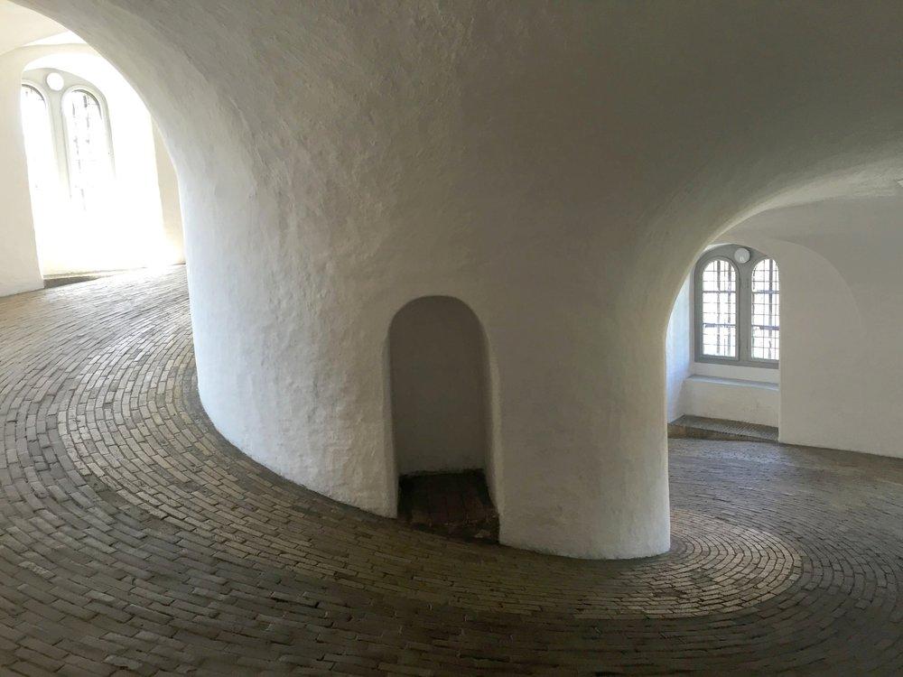 Going round and round up Rundetaarn tower // Copenhagen, Denmark