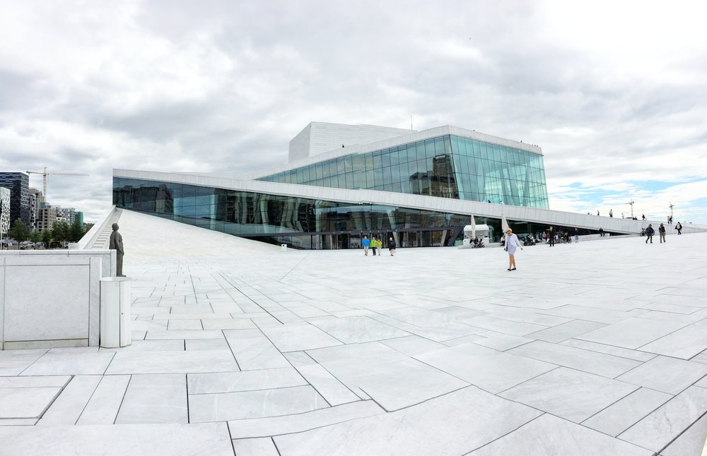 You can actually walk up the side of the Opera house! // Oslo, Norway