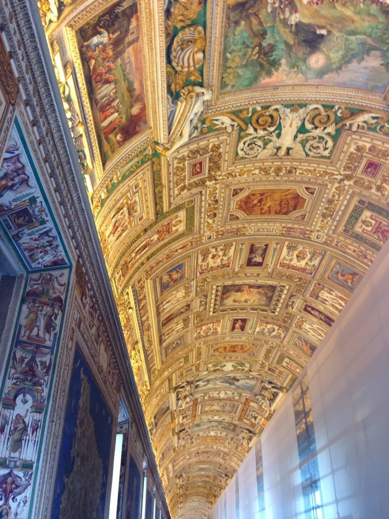 Inside the Vatican; gorgeous art from top to bottom