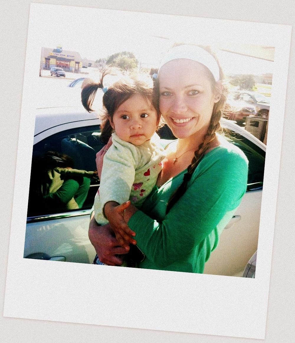 Amanda with Kim's Baby