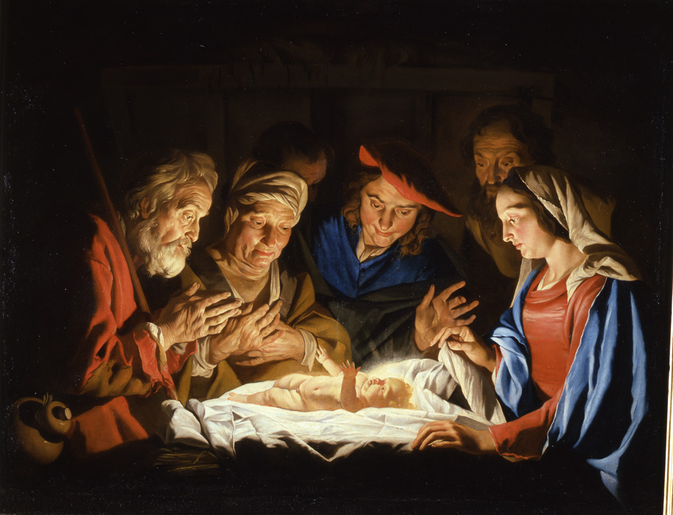 Adorazione dei pastori (The Adoration of the Shepherds)  by Mattias Stomer (17th Century)   Photo Credit:  Palazzo Madama