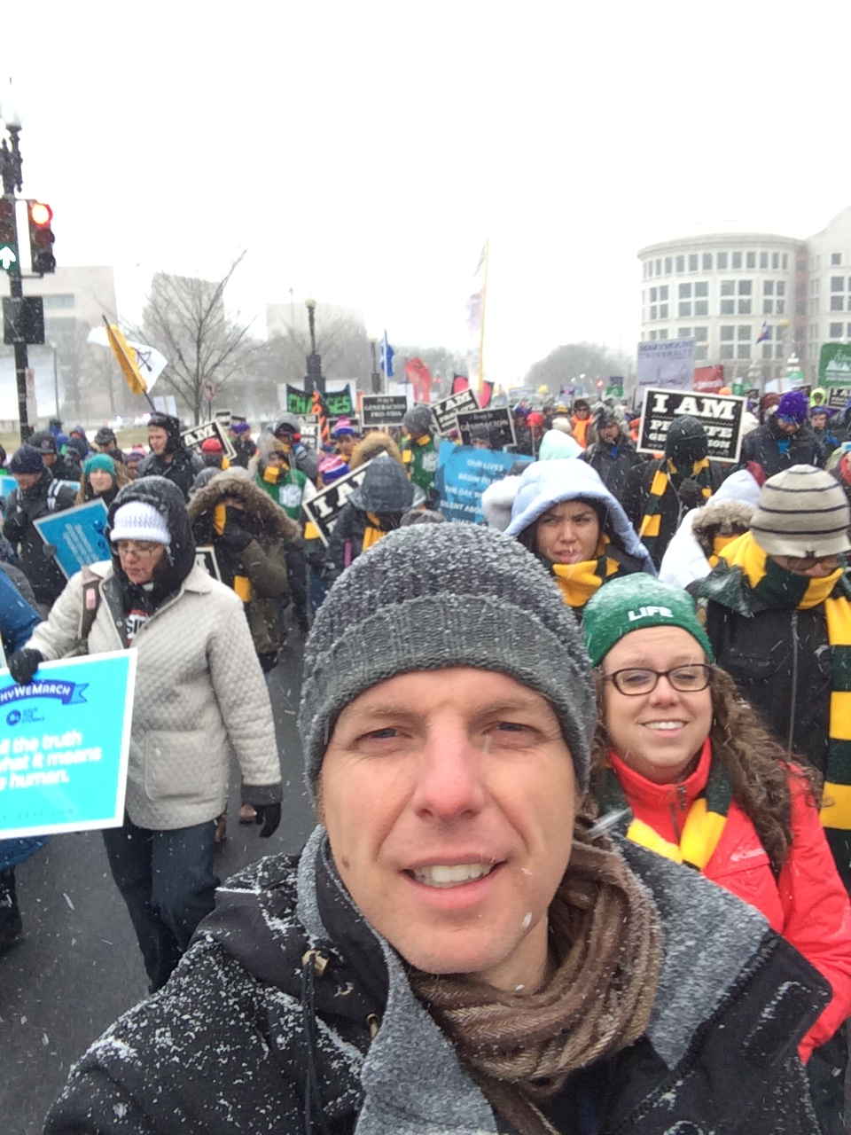 Blizzard snows begin during the March for Life!