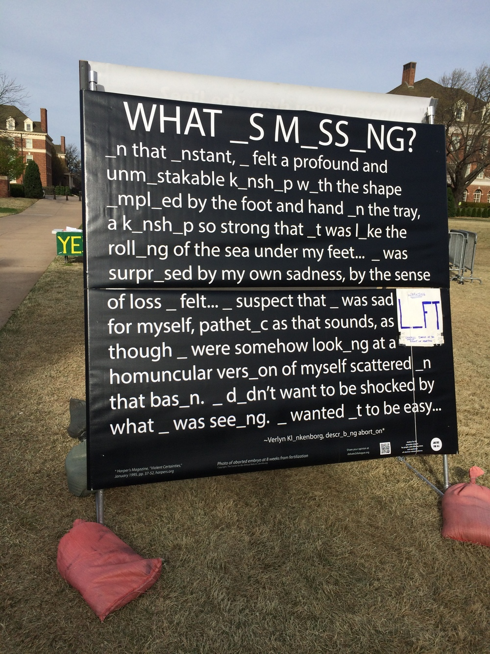 """What _s M_ss_ng?"" at Oklahoma State University, March 2016"
