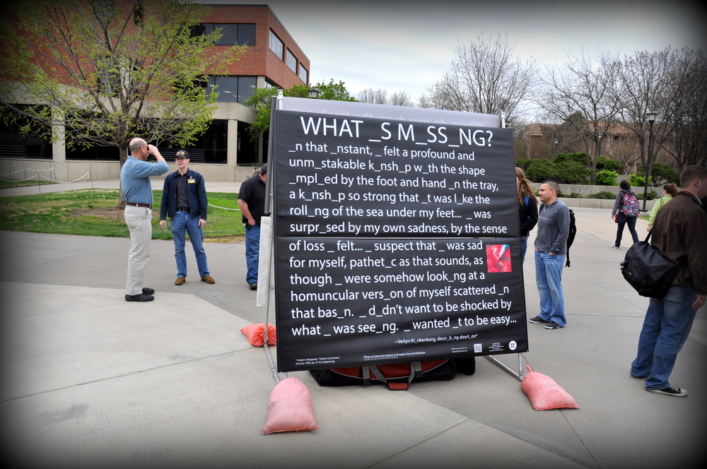 """What _s M_ss_ng?"" at Wichita State University, April 2013"