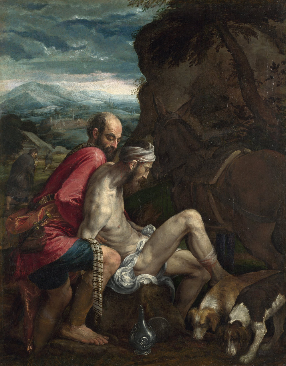 Jesus flipped the lawyer's question,  Who is my neighbor?, on its head: Who proved to be a neighbor?  (Image: The Good Samaritan by Jacopo Bassano, ca. 1562, The National Gallery, London; Image downloaded from Google Cultural Institute via WikiMedia Commons)