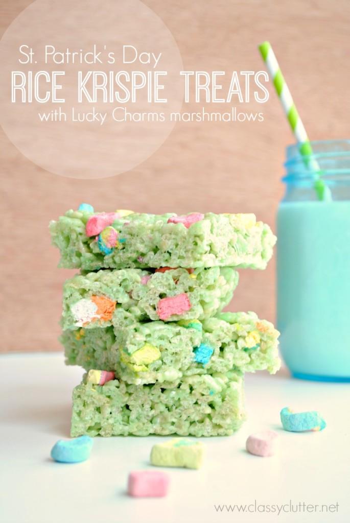 St. Patrick Day Rice Crispy Treats