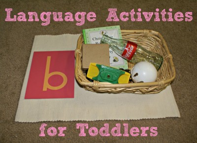 Language Activities for Toddlers