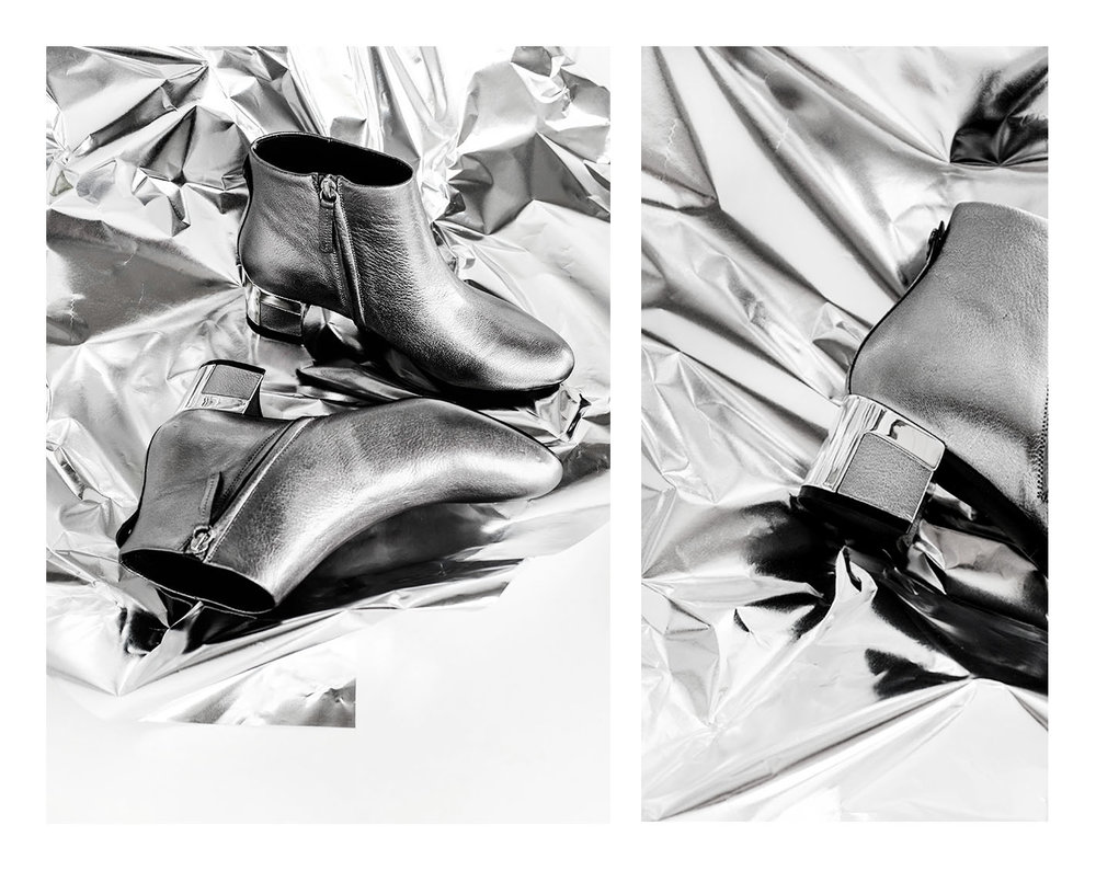 Max & Co Laminated Ankle Boots