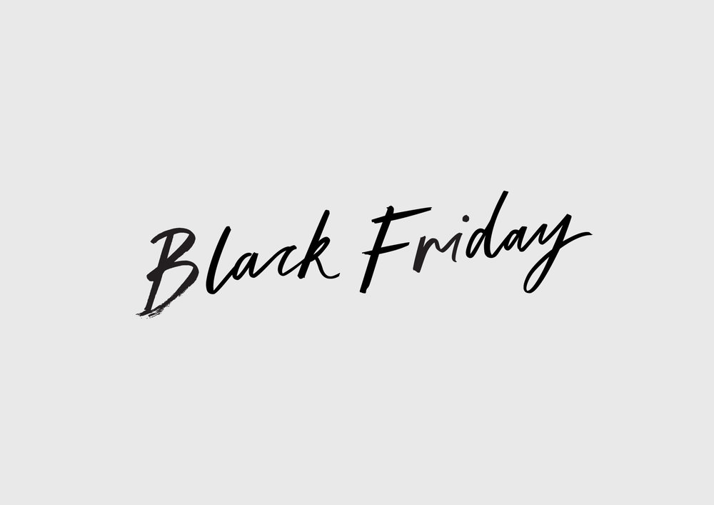 David Jones Black Friday Lettering   2015
