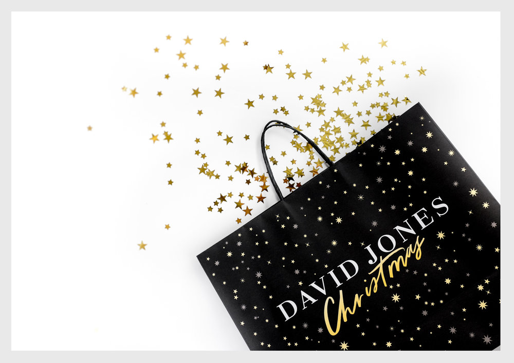 David Jones Christmas Shopping Bags 2016