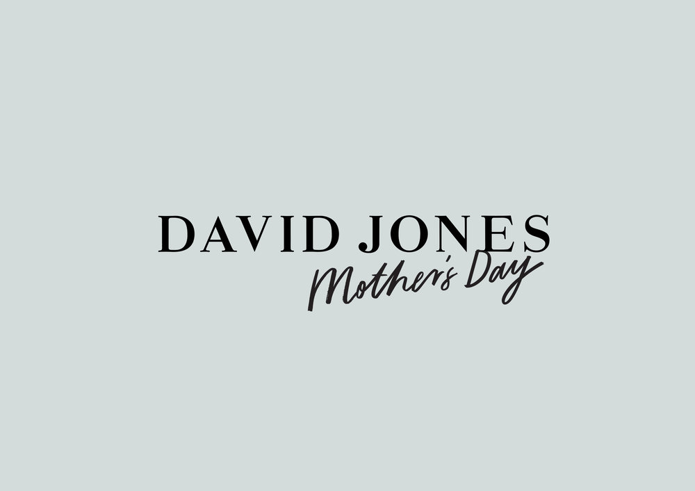 David Jones Mother's Day Lettering (2016)