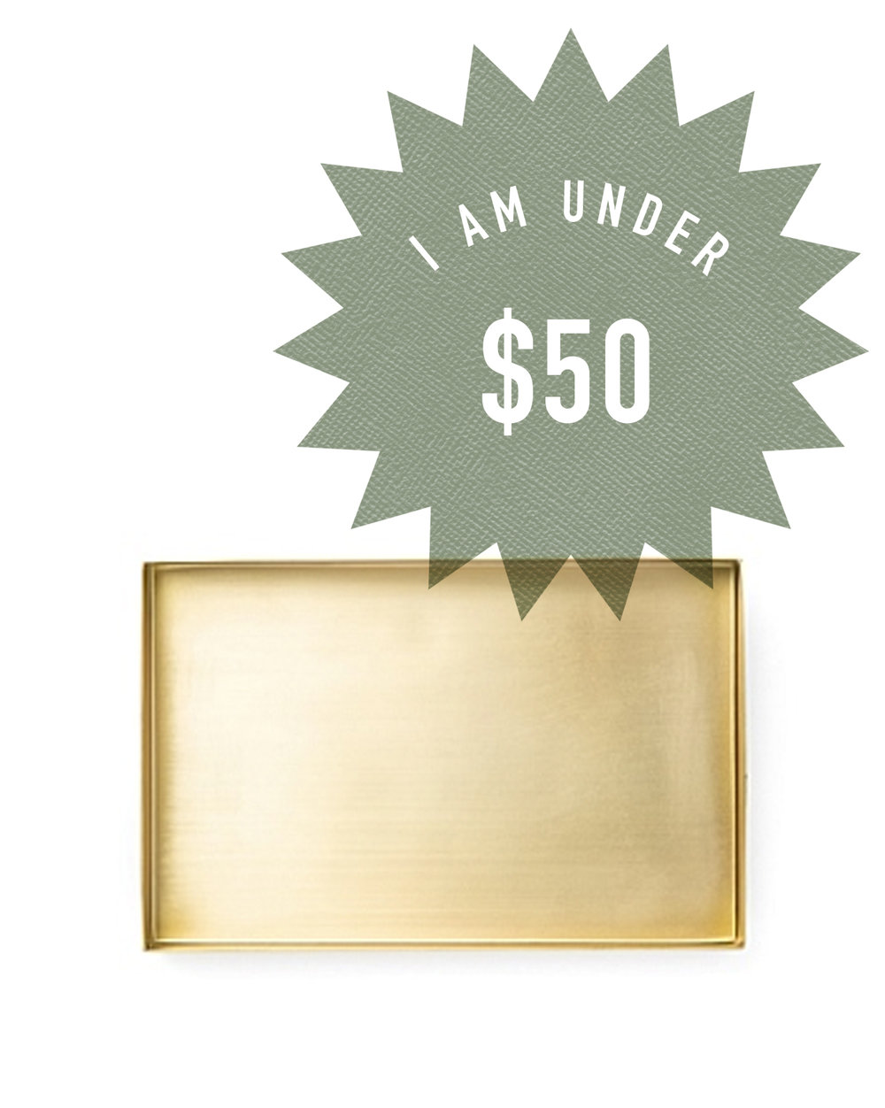 COUNTRY ROAD GOLD TRAY