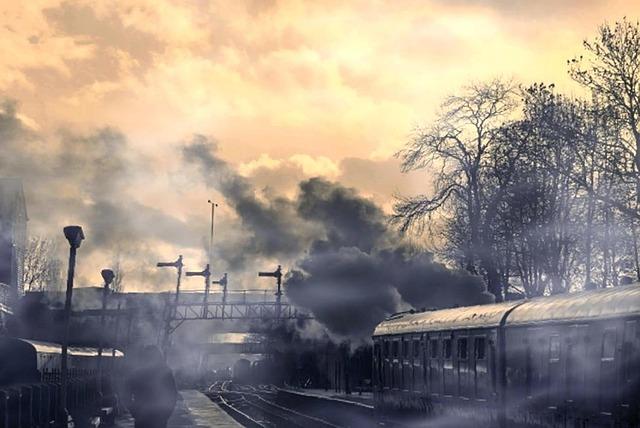 https://pixabay.com/en/cloud-railway-train-man-outdoor-2101822/ - Copyright free for commercial use.