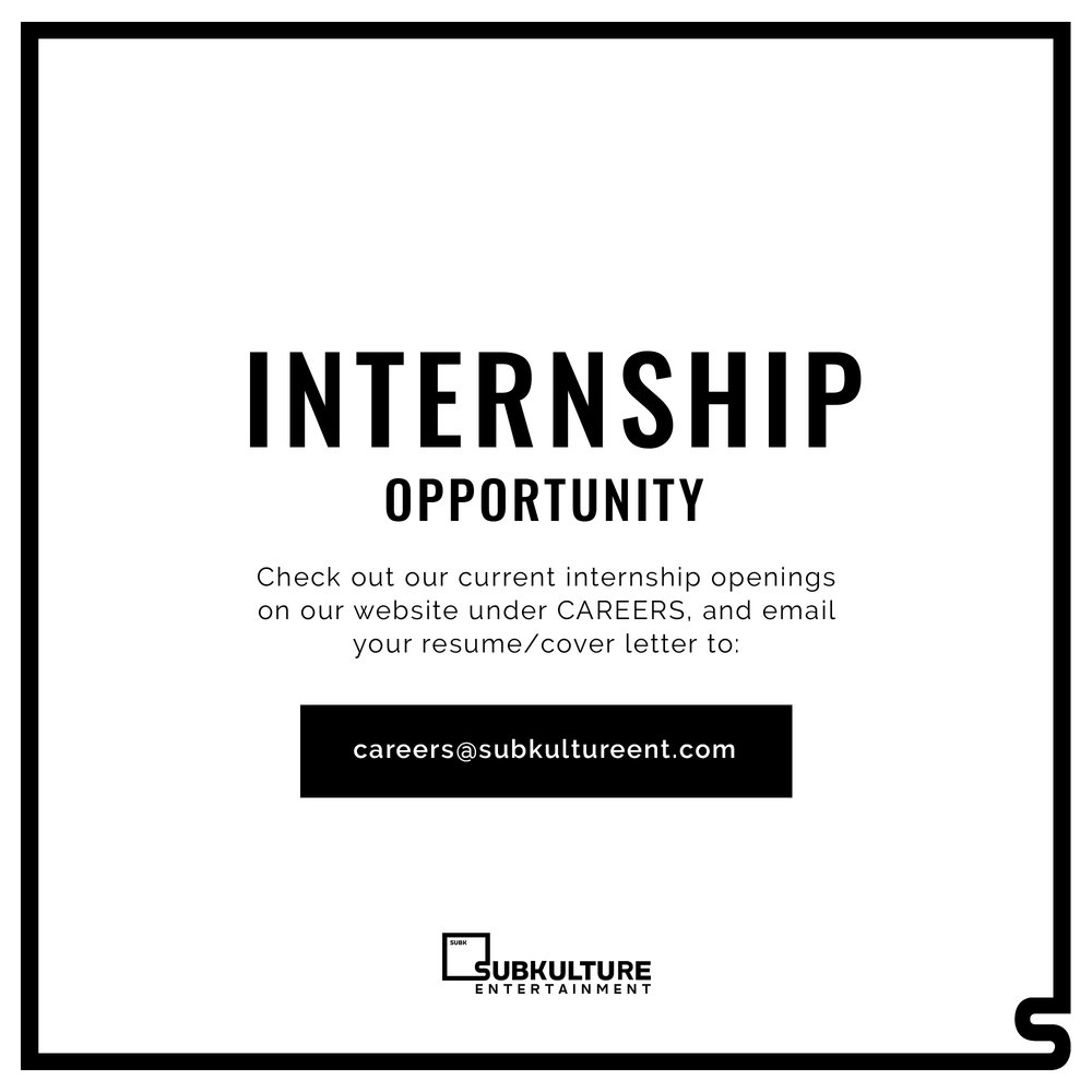 CAREERS — SubKulture Entertainment