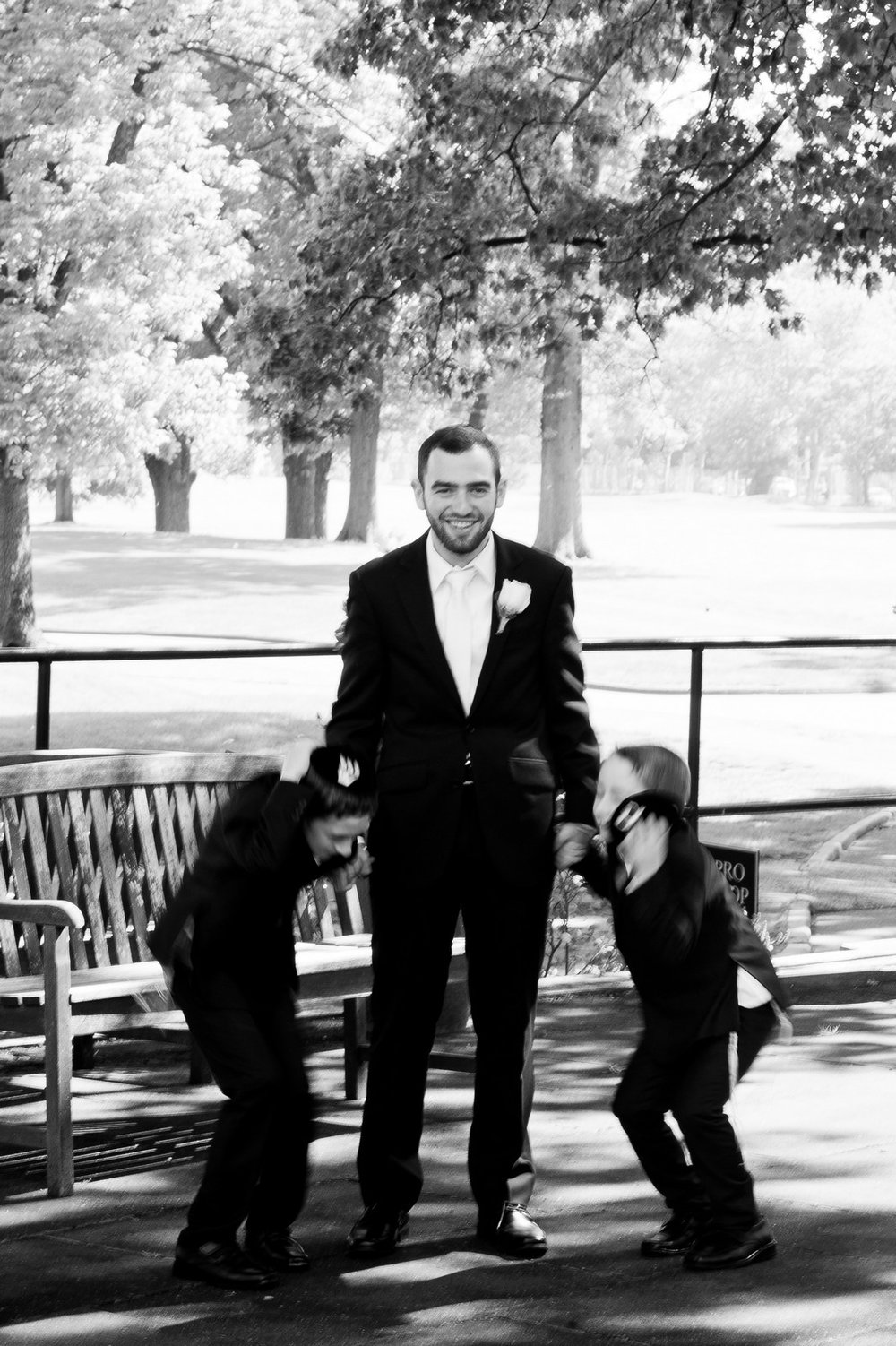 Orthodox Jewish Wedding, Dyker Beach Park and Golf Course, Brooklyn, New York, Photo by Chaim Schvarcz, Groom Portraits, Nephews, Family