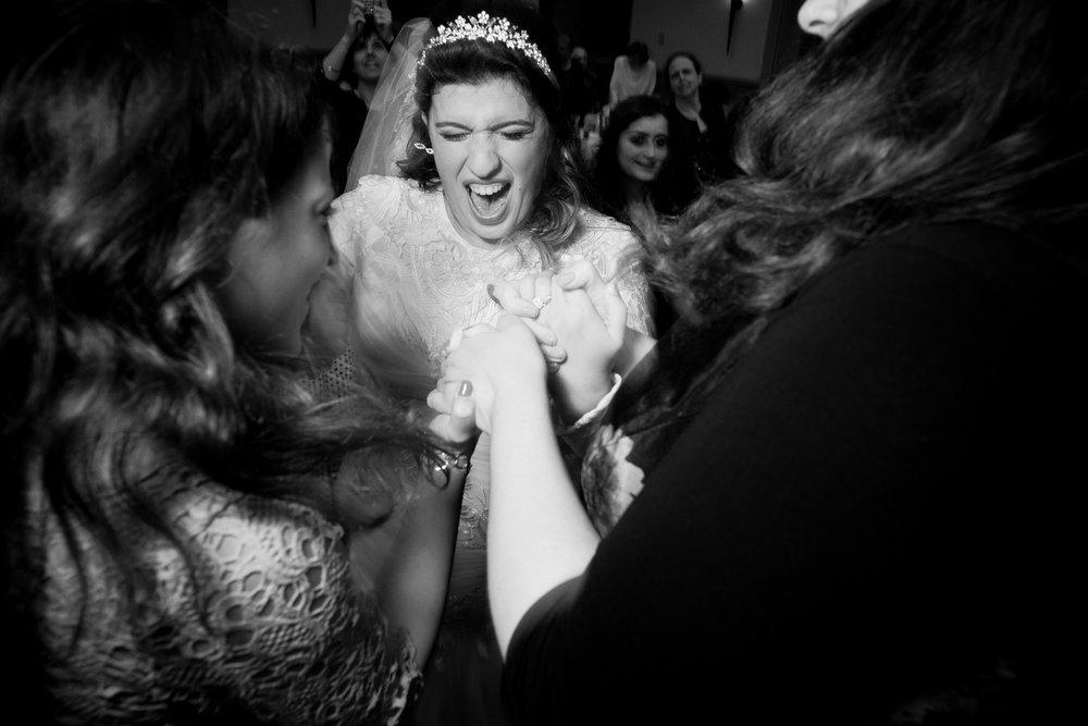 Orthodox Jewish Wedding, Dyker Beach Park and Golf Course, Brooklyn, New York, Photo by Chaim Schvarcz, Dancing, Bride