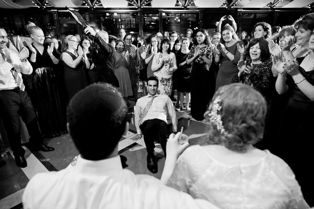 Sam and Yishai's Modern Orthodox Jewish Wedding at Crest Hollow Country Club, Woodbury NY, Photos by Chaim Schvarcz, Bride, Grooom, Dancing