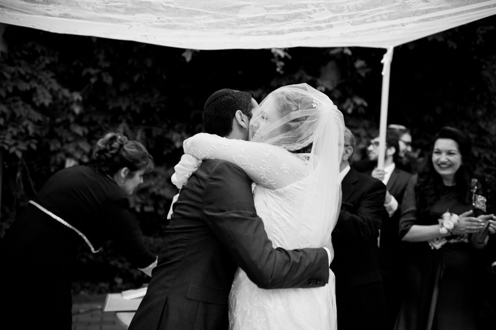 Sam and Yishai's Modern Orthodox Jewish Wedding at Crest Hollow Country Club, Woodbury NY, New York Photos by Chaim Schvarcz, Bride, Groom, Chuppah