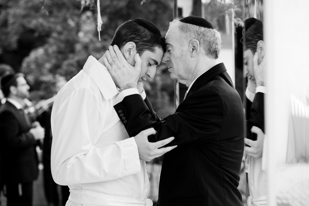 ,Josh and Michelle's Modern Jewish Wedding at Congregation Keter Torah, Teaneck, New Jersey Photos by Chaim Schvarcz, Chuppah, Groom, Father of the Groom