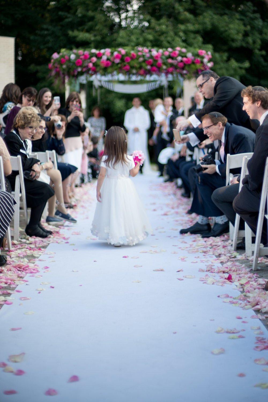 Josh and Michelle's Modern Jewish Wedding at Congregation Keter Torah, Teaneck, New Jersey Photos by Chaim Schvarcz, Chuppah, Flower Girl