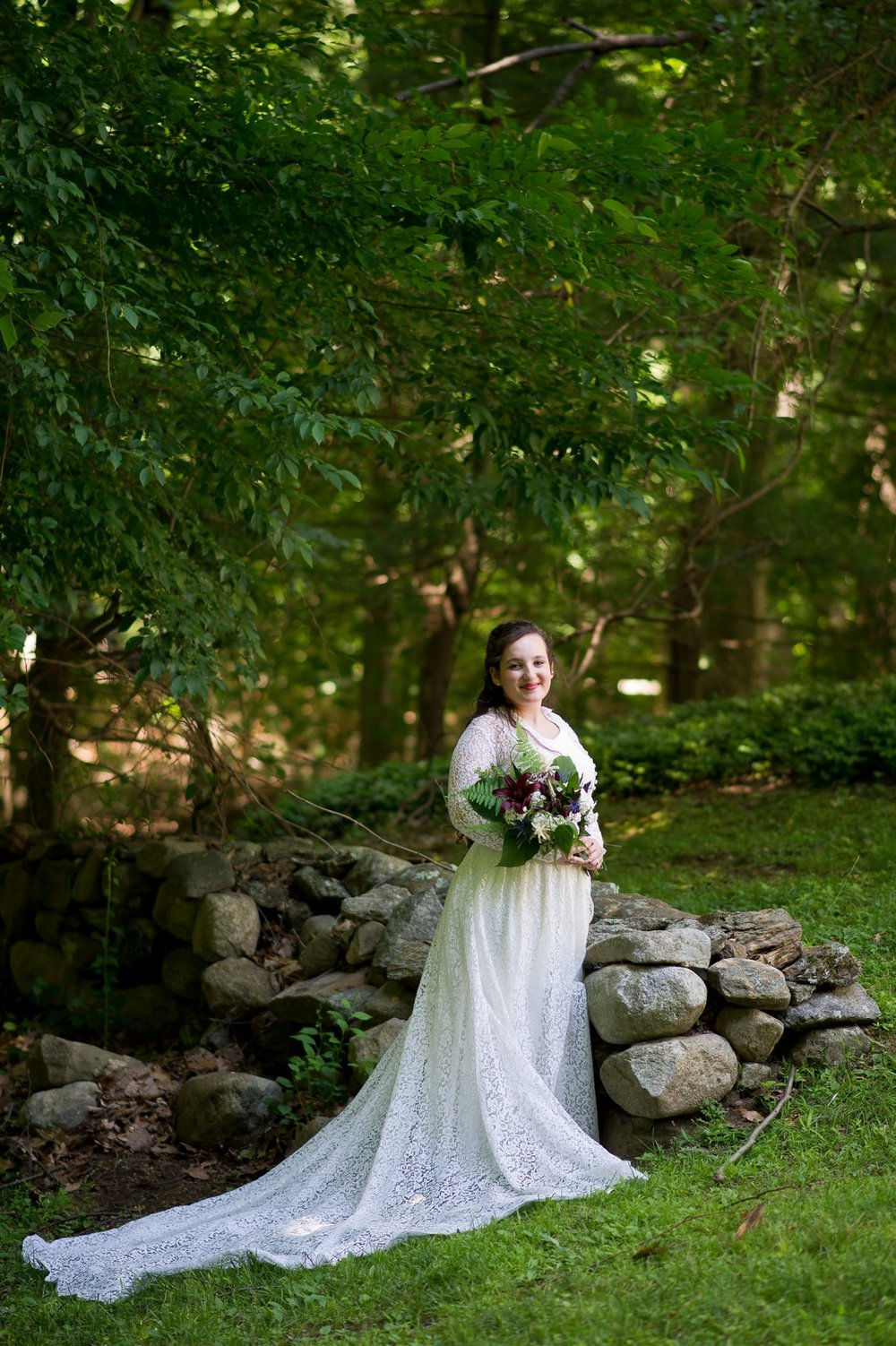 Ma'ayan and Mikey's Traditional Jewish Backyard Wedding in Fairfield, CT Photos by Chaim Schvarcz bride portraits