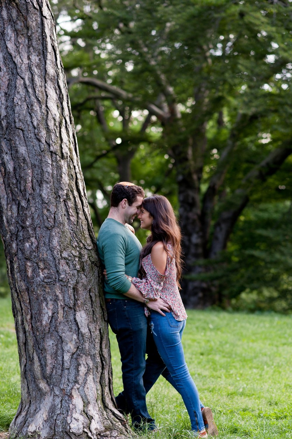 Ben and Sarit Engagement Session in Central Park, NYC, Photos by Chaim Schvarcz Bride Groom Couple Proposal Love