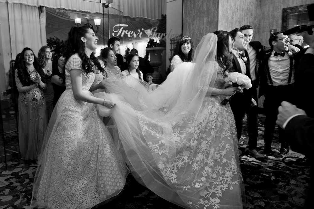 Abby and Miles' Modern Jewish Wedding at Nicotra's Ballroom, Hilton Garden Inn, Staten Island, NY, Photos by Chaim Schvarcz bride groom