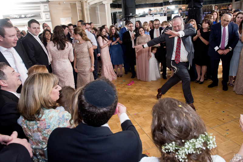 Danna and Eitan's Modern Orthodox Jewish Wedding at The Sands, Atlantic Beach, NY Photos by Chaim Schvarcz bride groom reception dancing family
