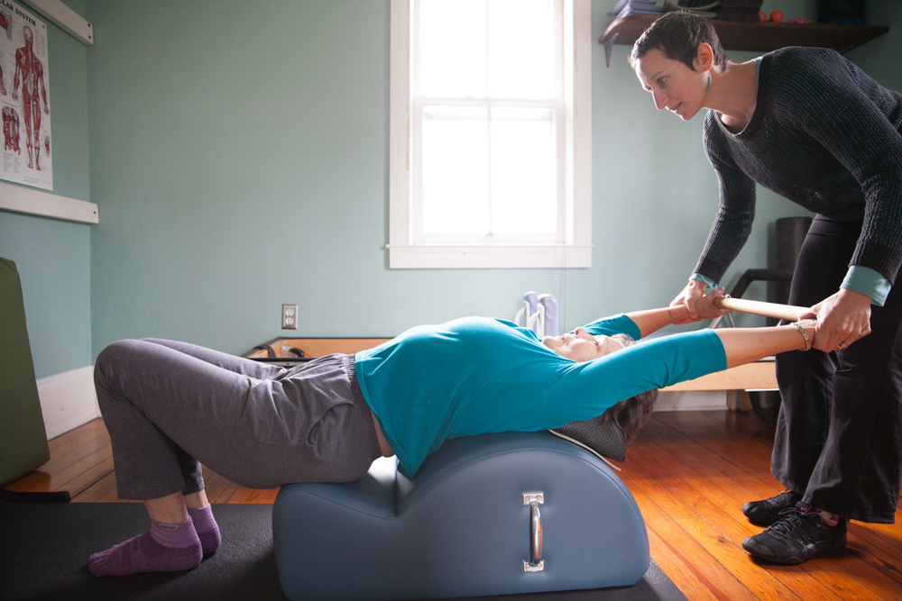 The Spine Corrector is a great place to open up your upper back and chest