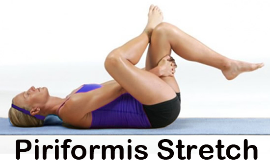 You will feel this hip stretch in your right hip/butt/back of leg area.