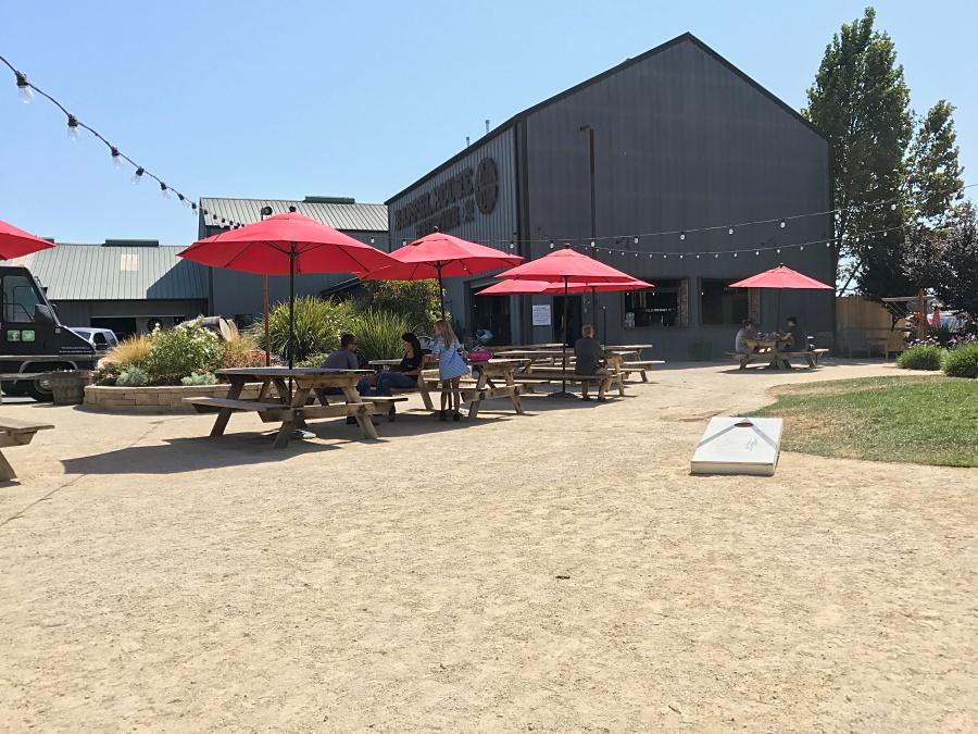 Barrelhouse Brewing's outdoor area
