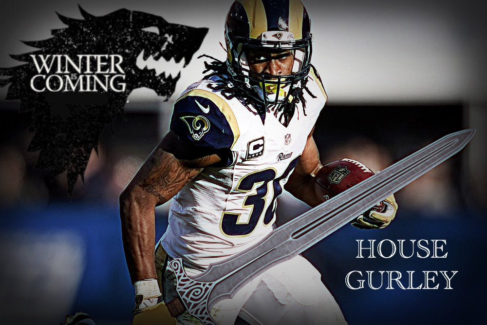 TOOD GURLEY - 20.70 fantasy points in Week One - Rushing: 20/108/0 TD, Receiving: 3/39/1 TD