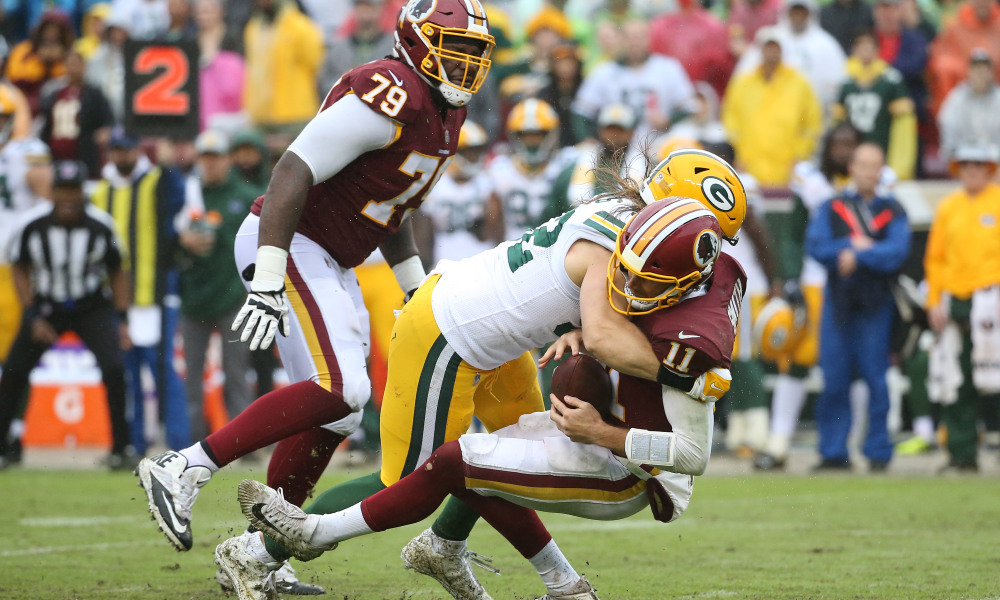 Clay Matthews gets his third Roughing The Passer call in as many weeks.