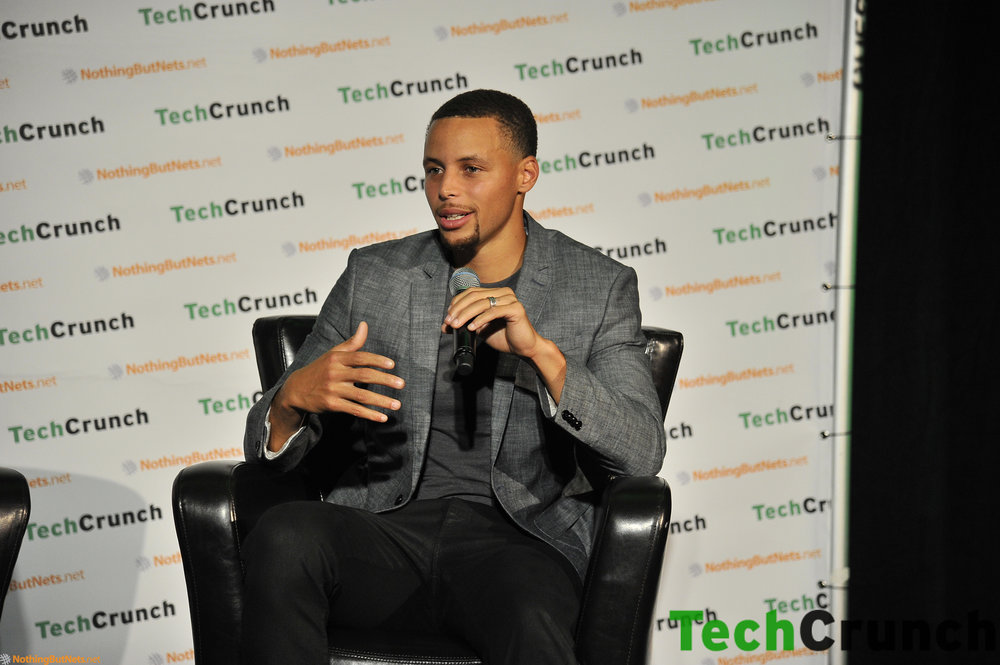 Stephen Curry at TechCrunch