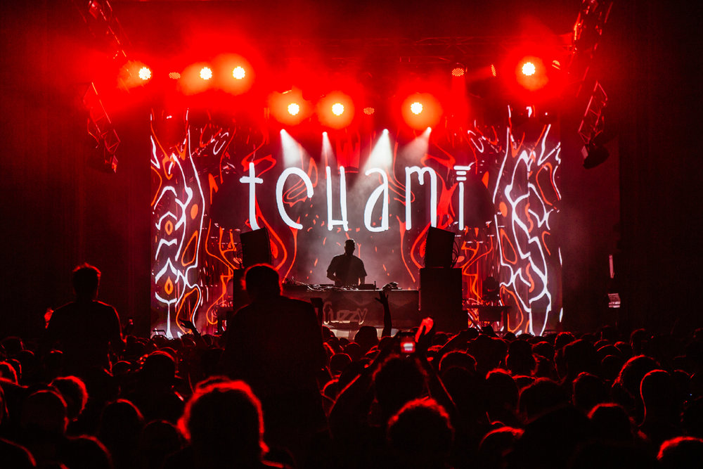 Tchami's mysterious and dark house music filled the tent.