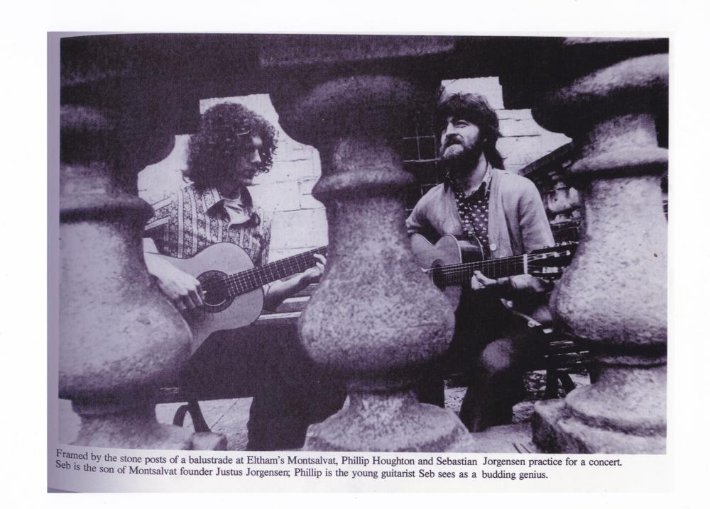 With Sebastian Jorgensen, Montsalvat, 1977