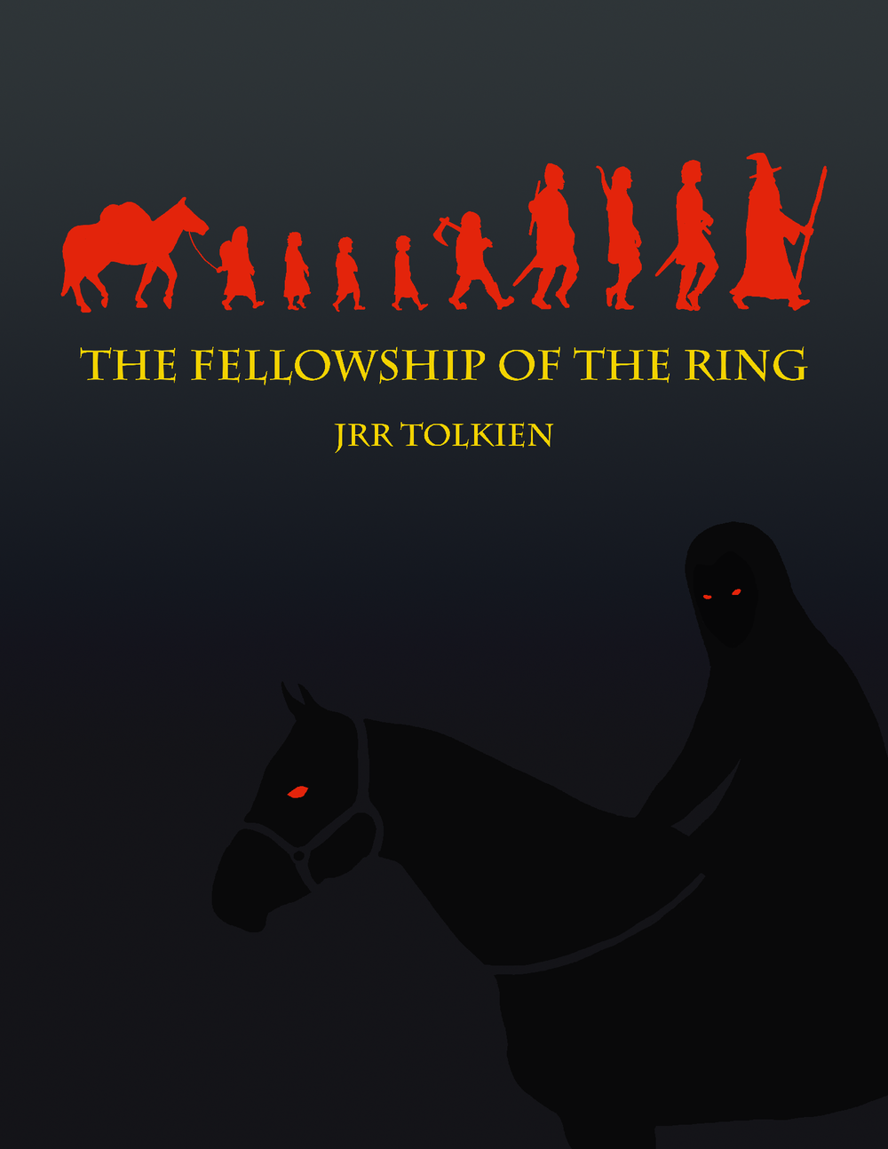 The Fellowship of the Ring mock cover