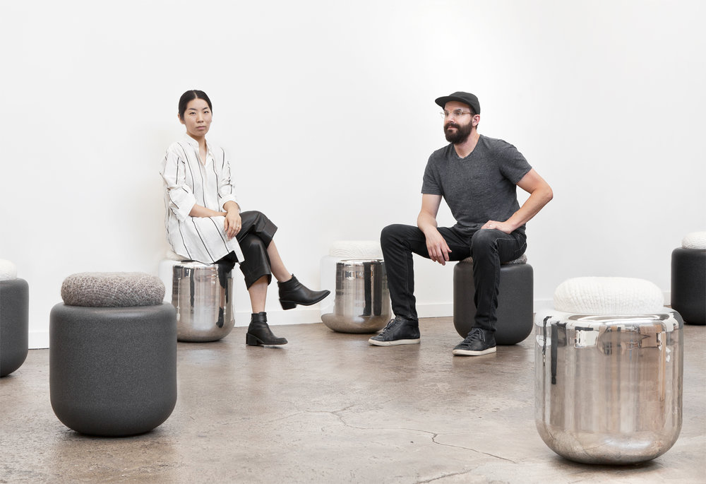 Rounded Metal Stools (email to join our waitlist)
