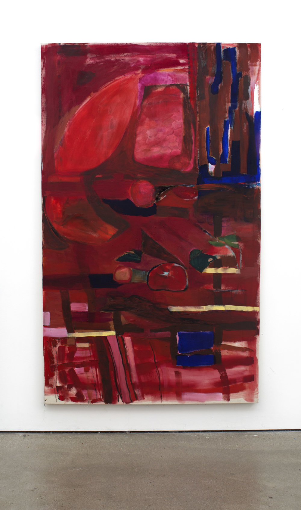 Red, acrylic on canvas, 170 x 120 cm/ 67 X 47 in, 2017.