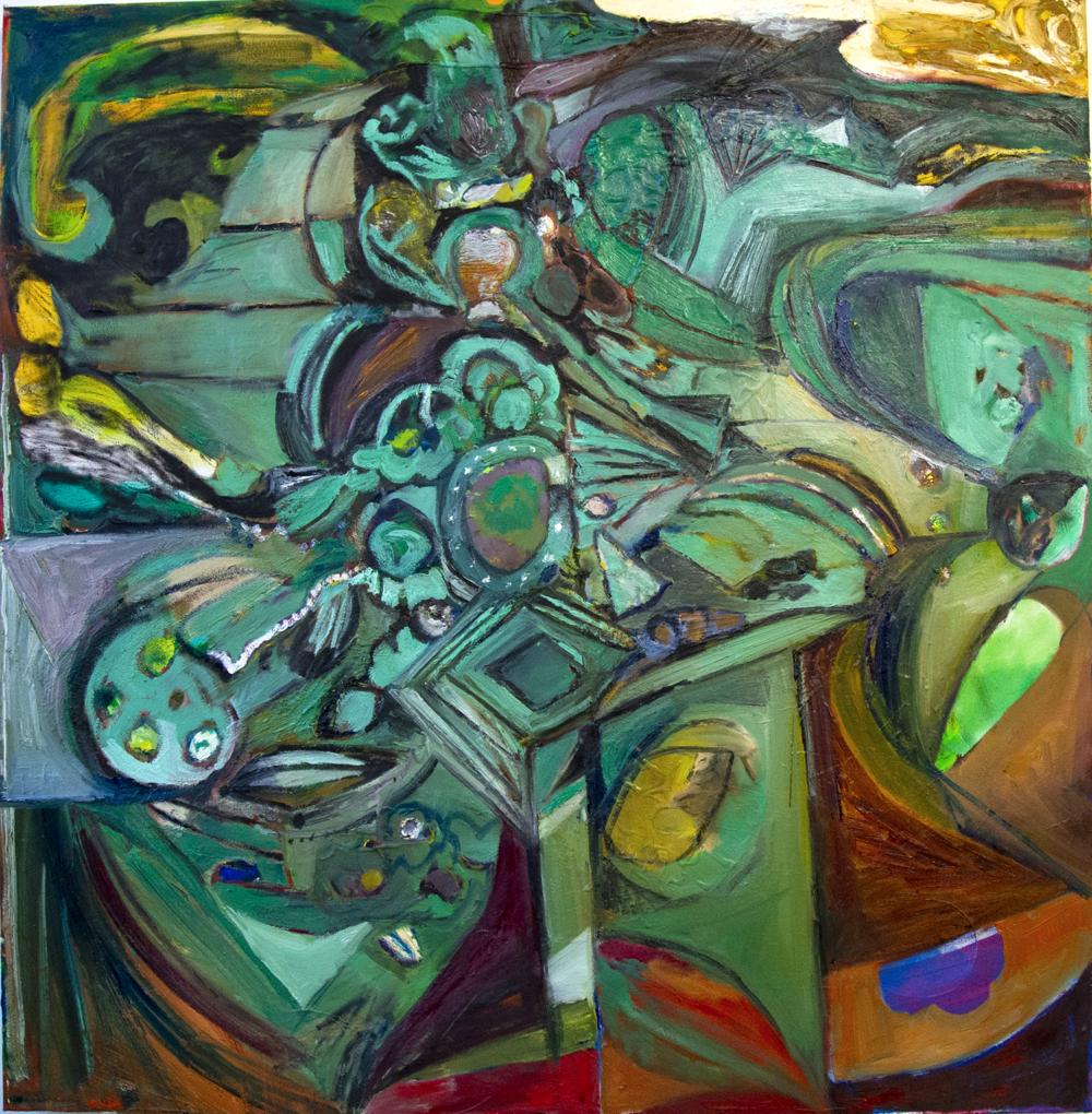 Gennaro, oil on canvas, 110 x 112 cm, 2018.