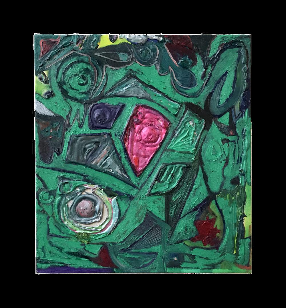 Hawick gem, oil on canvas, 39 x 43 cm, 2018.