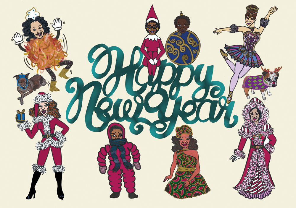 ETA Happy New Year Postcard