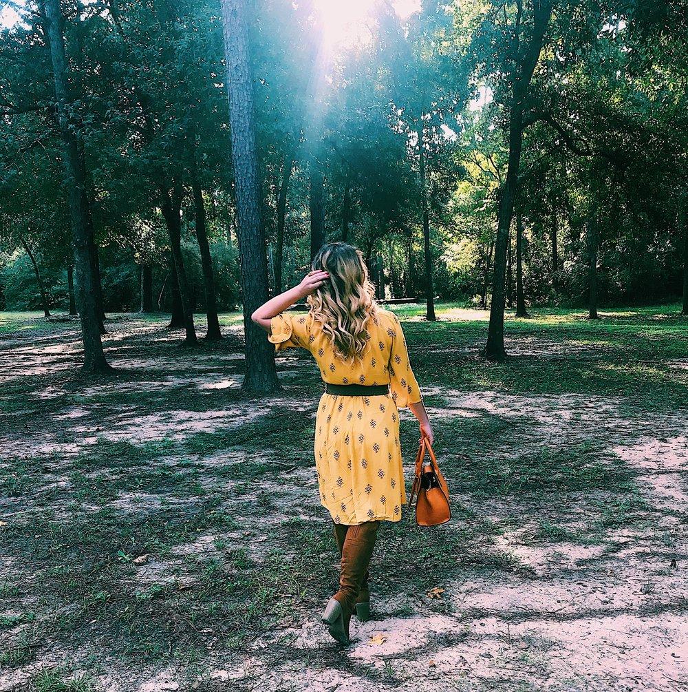 Three Heel Clicks - Mustard Dress at the Rainbow Lodge (10).jpg