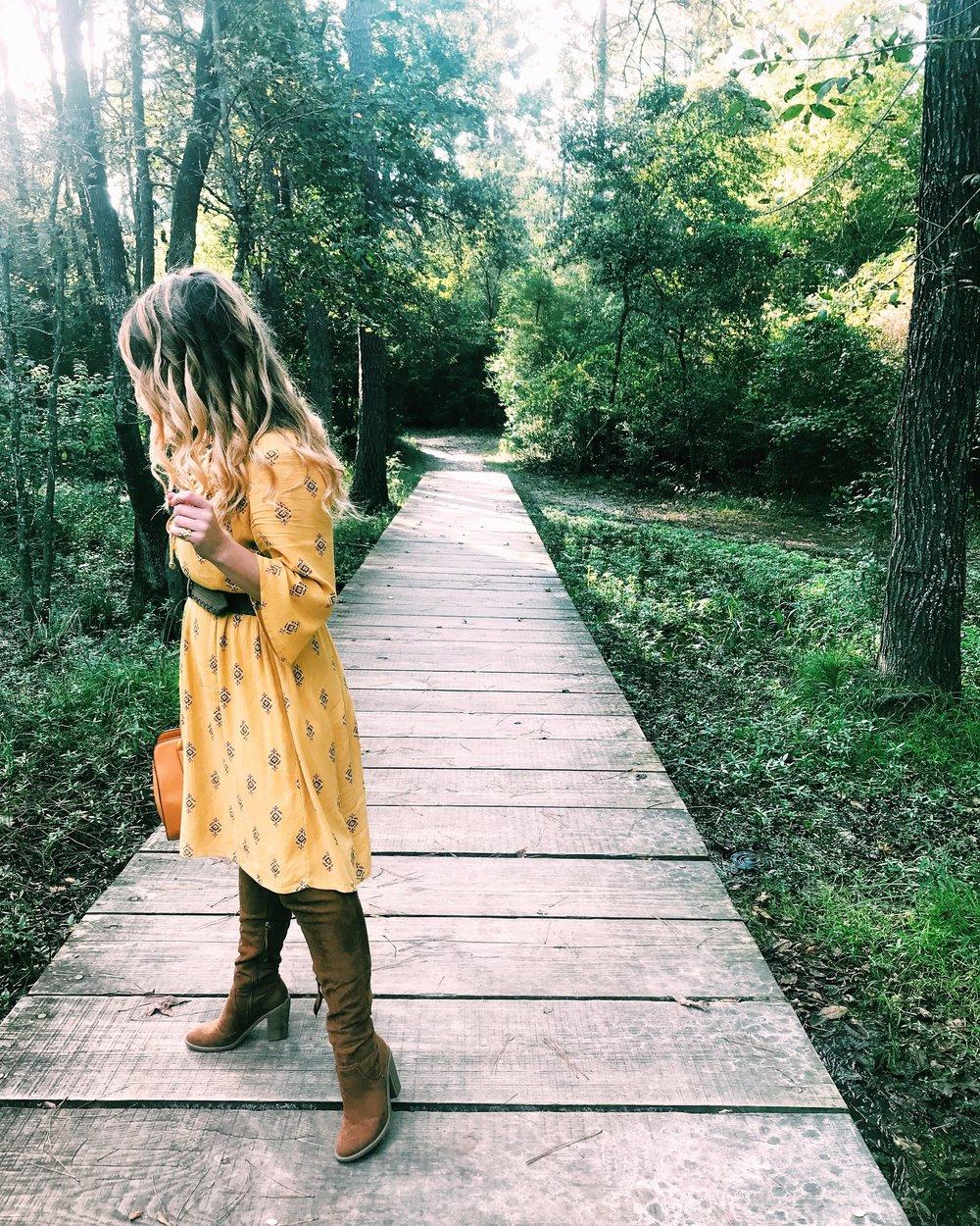 Three Heel Clicks - Mustard Dress at the Rainbow Lodge (28).jpg