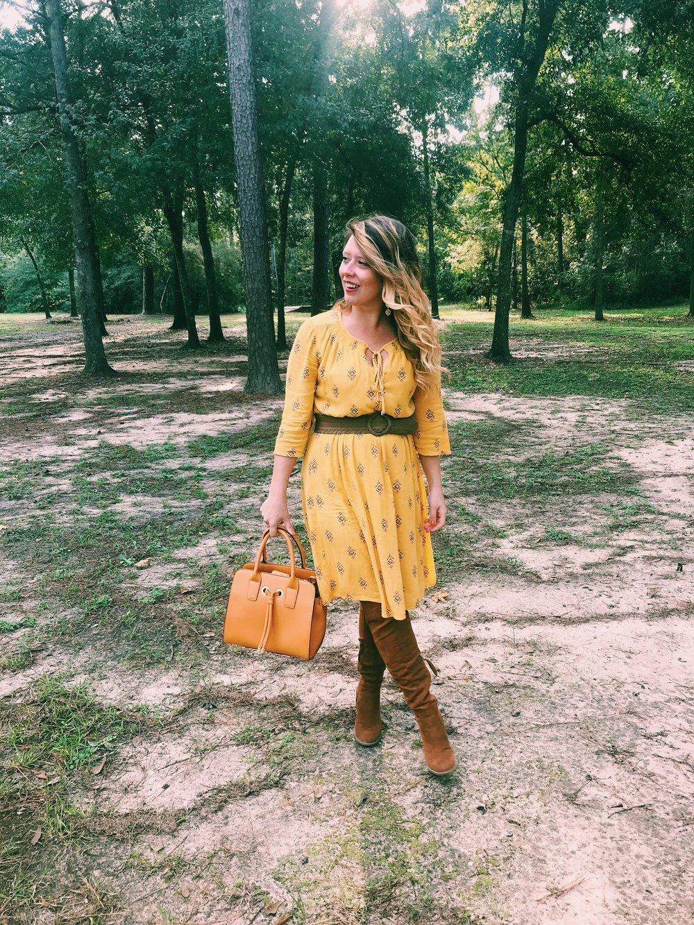 Three Heel Clicks - Mustard Dress at the Rainbow Lodge (23).jpg