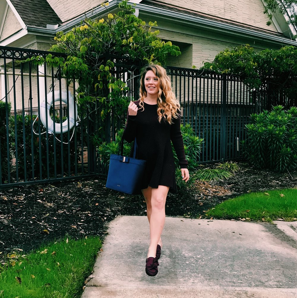 Three Heel Clicks - Sweater Dress with Mules (8).jpg