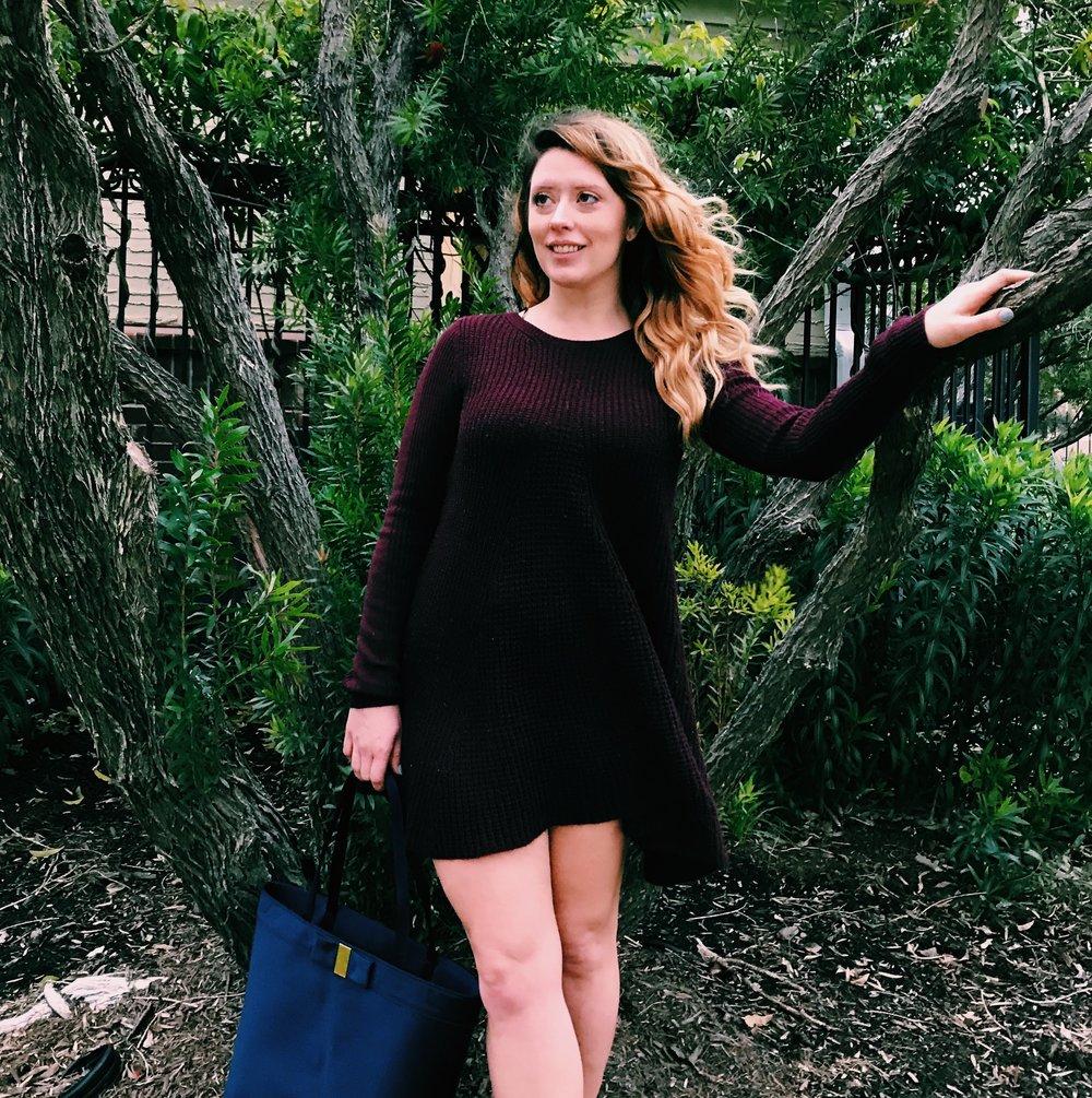 Three Heel Clicks - Sweater Dress with Mules (7).jpg