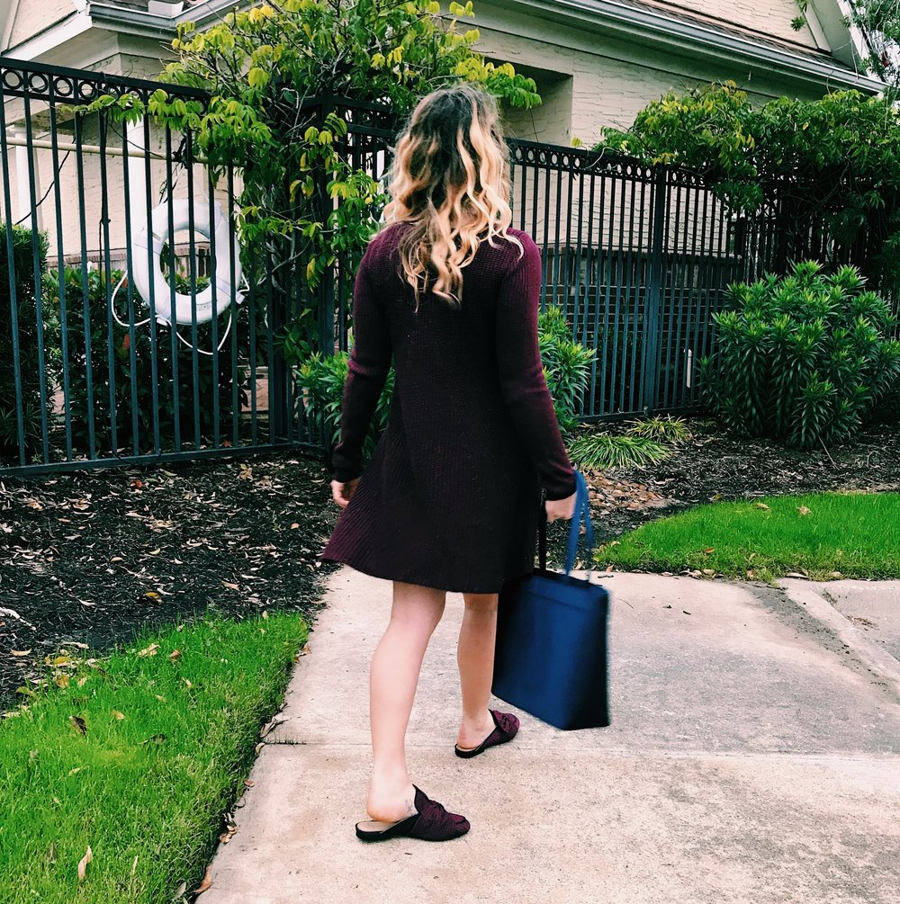 Three Heel Clicks - Sweater Dress with Mules (17).jpg