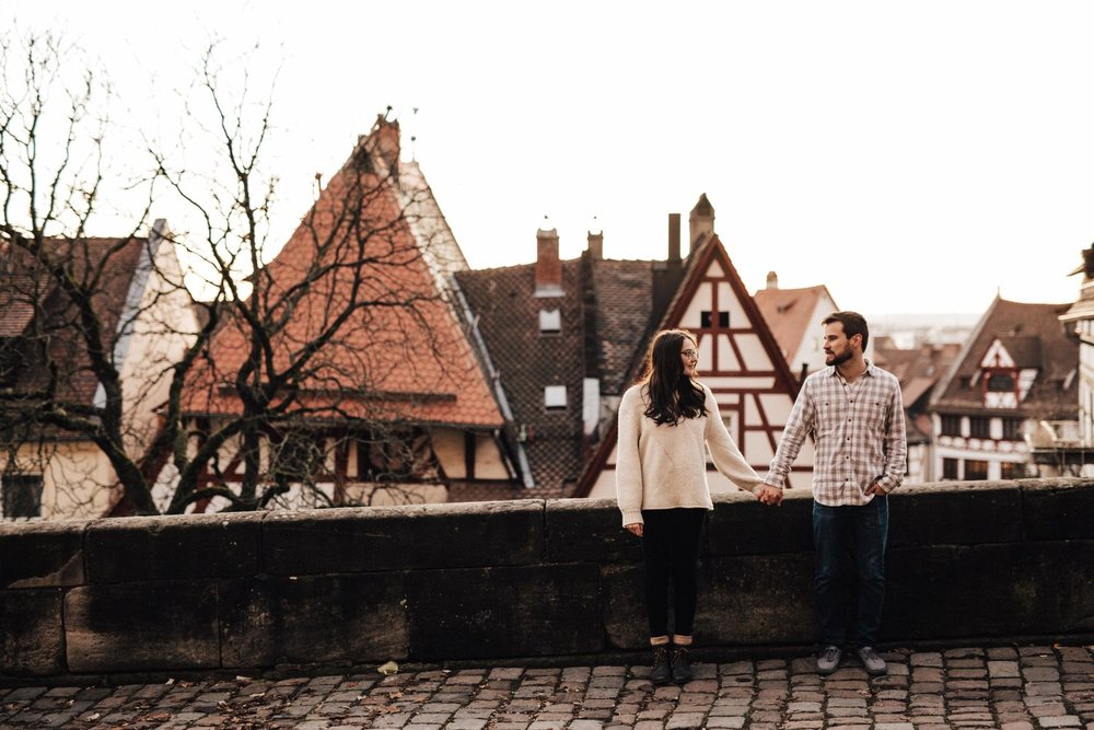 vicky & brad // german castle engagement