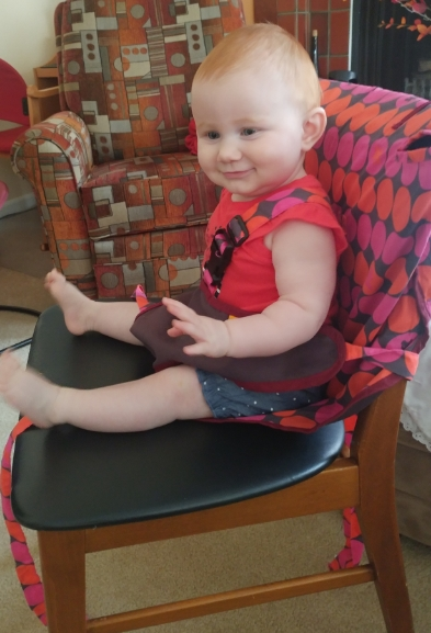 Georgia using her  My Little Seat !